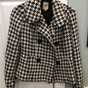 Hounds tooth tulle jacket